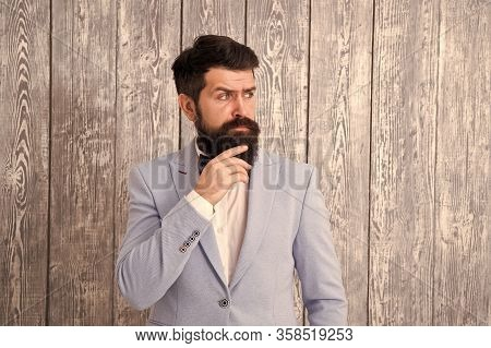 Hairstyle And Beard Grooming. Barber Shop Concept. Gentleman Style Barber. Barber Shop Offer Range O