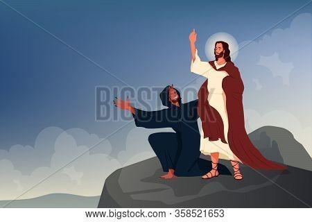 Bible Narratives About The Temptation Of Jesus Christ. Jesus Was