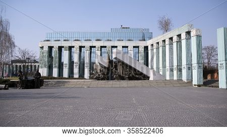 Warsaw, Poland. 28 March 2020. Warsaw Uprising Monument Is A Monument In Warsaw, Poland, Dedicated T