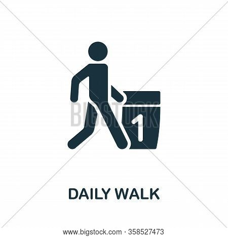 Daily Walk Icon. Simple Illustration From Healthy Lifestyle Collection. Creative Daily Walk Icon For
