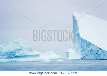 Big Icebergs In The Ilulissat Icefjord, Western Greenland