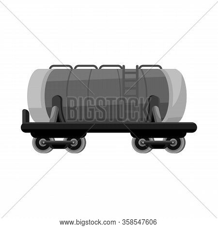 Isolated Object Of Wagon And Cistern Sign. Graphic Of Wagon And Tank Stock Symbol For Web.