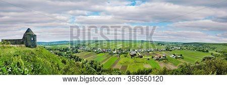 Ukraine, Podgora Village, Ternopil Region, Terebovlya District. Pidhiryan Monastery. View From The M