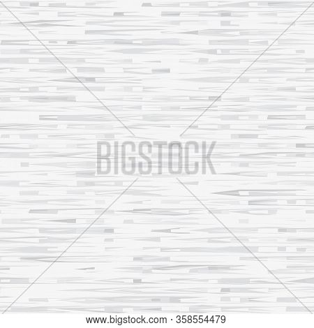 White Marl Heather Dense Rough Stripe Vector Texture Background. Broken T Shirt Woven Line On Light