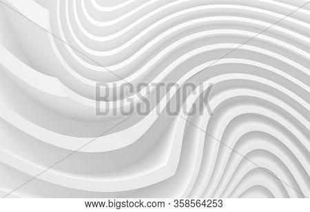Abstract Building Background. Urban Graphic Design. Beautiful 3d Rendering