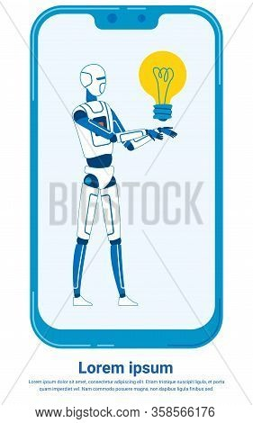 Artificial Intelligence Advice Giver In Smartphone. Ai, Bot Application For Tips Mobile Phone Copysp