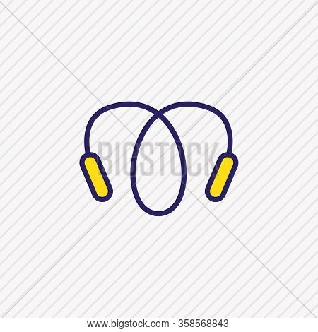 Vector Illustration Of Jumping Rope Icon Colored Line. Beautiful Hobby Element Also Can Be Used As S
