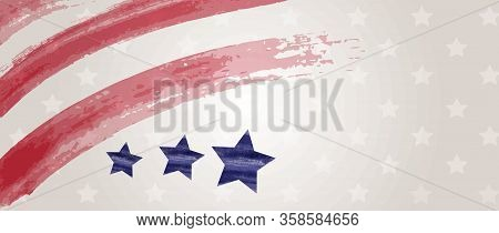 Abstract Usa Flag Banner