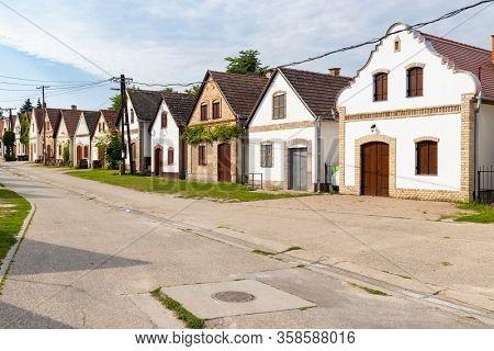 cellar lane in Hajos, Kalocsa County, Southern Great Plain Region, Hungary
