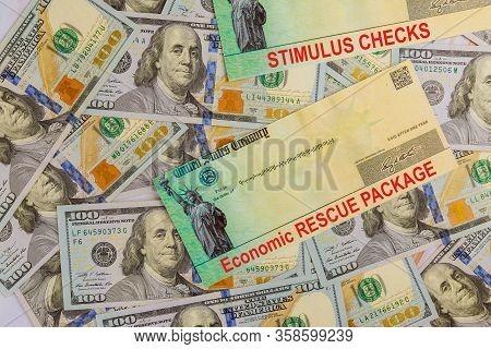 Economic Stimulus Bill Financial A Stimulus Bill Individual Checks From Government Us 100 Dollar Bil