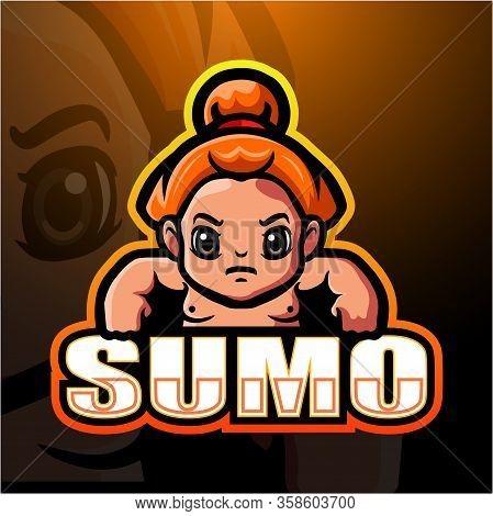 Vector Illustration Of Sumo Mascot Esport Logo Design