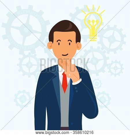 Puzzled Man In Blue Suit On White Background. Candidate For Position. Businessman In Business Suit.