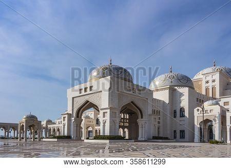 Abu Dhabi, Uae - 3rd Jan 2020: The Presidential Palace (qasr Al Watan) Is The Home To Formal Offices