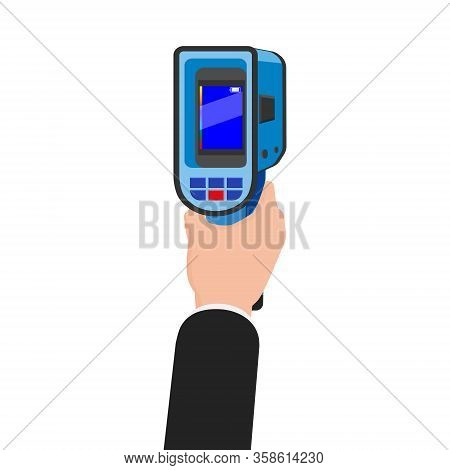 Hand Holds Thermal Scaner Camera Infrared. Portable Visualize Temperature Differences Thermometer, T