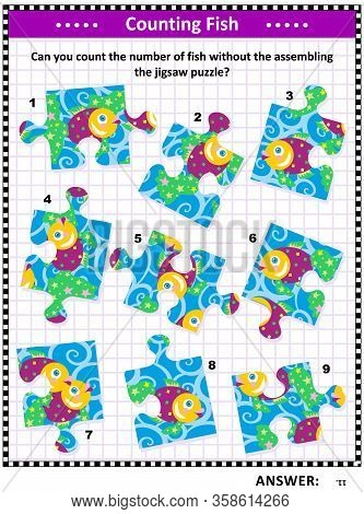 Iq Training Visual Puzzle (suitable Both For Kids And Adults): Can You Count The Number Of Fish With