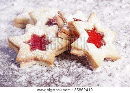 Jelly cookies stars