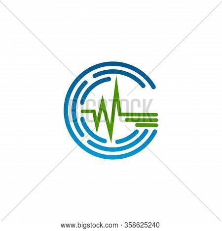 Design Pulse For Medical Icon Symbol On The White Background. Pulse Icon For Element Design. Vector