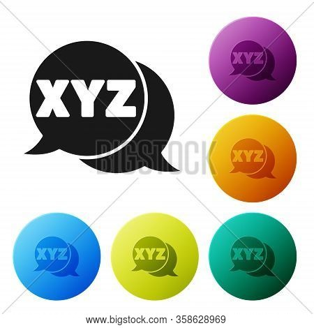 Black Xyz Coordinate System Icon Isolated On White Background. Xyz Axis For Graph Statistics Display