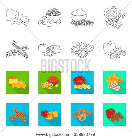 Vector Design Of Taste And Seasonin Symbol. Collection Of Taste And Organic Stock Vector Illustratio