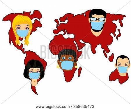 Card Of The World Infected Epidemic Coronavirus