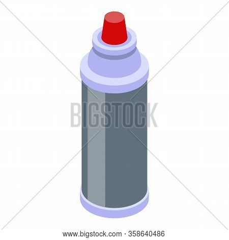 Gas Liquid Cylinder Icon. Isometric Of Gas Liquid Cylinder Vector Icon For Web Design Isolated On Wh