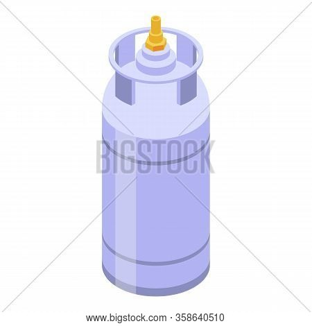 Cooking Gas Cylinder Icon. Isometric Of Cooking Gas Cylinder Vector Icon For Web Design Isolated On
