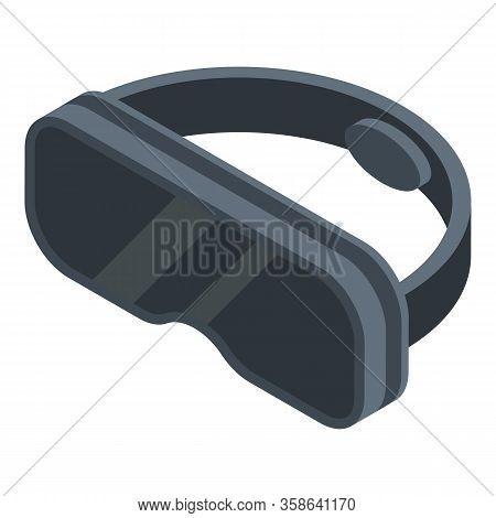 Vr Simulation Goggles Icon. Isometric Of Vr Simulation Goggles Vector Icon For Web Design Isolated O