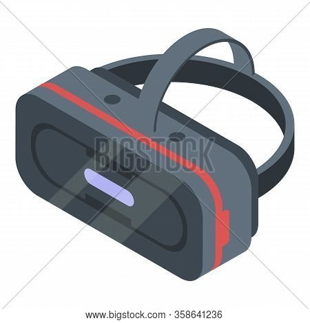 Stereoscopic Game Goggles Icon. Isometric Of Stereoscopic Game Goggles Vector Icon For Web Design Is