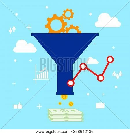 Sales Funnel Optimization Web Design Vector Eps 10