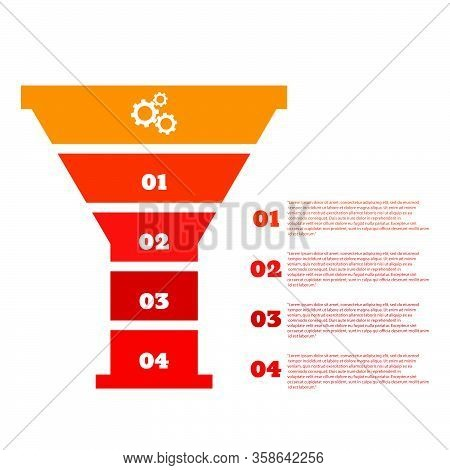 Sales Funnel Infographic Color Design Vector Eps 10