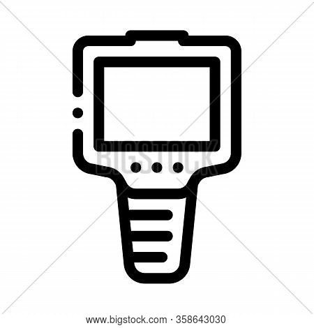 Ammeter Icon Vector. Ammeter Sign. Isolated Contour Symbol Illustration