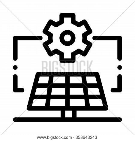 General Solar Setup Icon Vector. General Solar Setup Sign. Isolated Contour Symbol Illustration