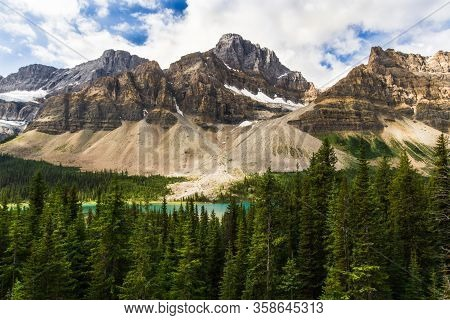 The Rocky Mountains. Crowfoot Glacier & Crowfoot Mountain Banff National Park, Alberta, Canada