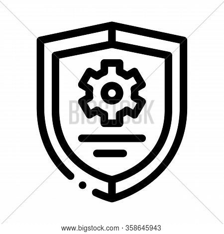 Cybersecurity Icon Vector. Cybersecurity Sign. Isolated Contour Symbol Illustration