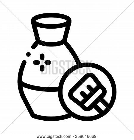 Clay Vase Cleansing Icon Vector. Clay Vase Cleansing Sign. Isolated Contour Symbol Illustration