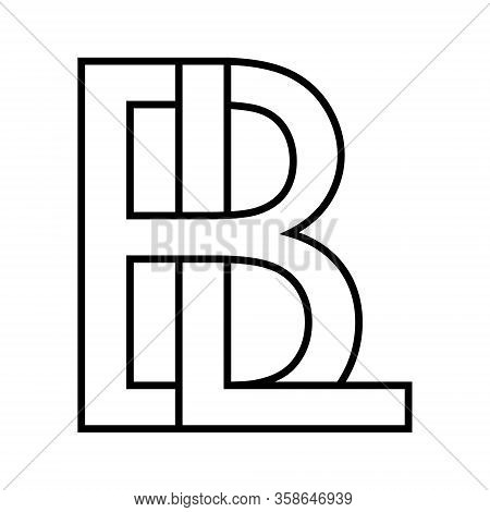 Logo Sign Bl Lb Icon Sign Two Interlaced Letters B, L Vector Logo Bl, Lb First Capital Letters Patte