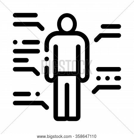 Study Of Human Functions Icon Vector. Study Of Human Functions Sign. Isolated Contour Symbol Illustr