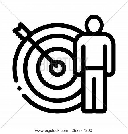 Target Hit Icon Vector. Target Hit Sign. Isolated Contour Symbol Illustration