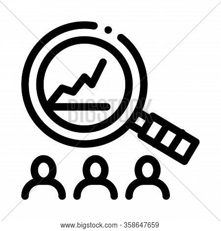Study On Upward Profit Growth Icon Vector. Study On Upward Profit Growth Sign. Isolated Contour Symb