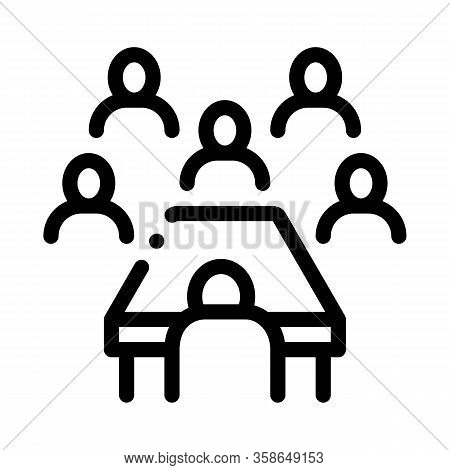 Business Seminar Icon Vector. Business Seminar Sign. Isolated Contour Symbol Illustration
