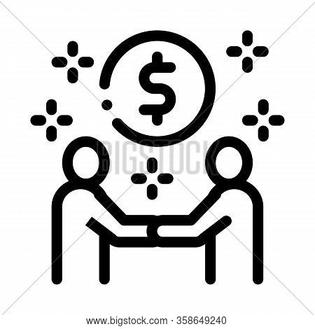 Money Making Deal Icon Vector. Money Making Deal Sign. Isolated Contour Symbol Illustration