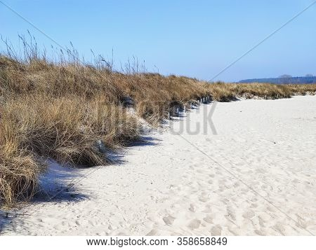 Photo Of Dunes And White Sand Beach At Baltic Sea