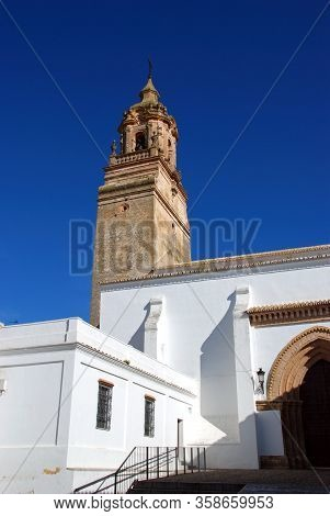 View Of San Bartolome Church (iglesia De San Bartolome) And Bell Tower, Carmona, Seville Province, A