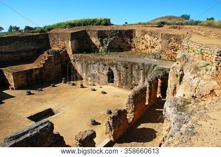 Ancient Roman Tomb Of Servilia In The Necropolis, Archaeological Complex, Carmona, Seville Province,