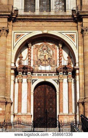 Puerta De Las Cadenas, Renaissance Cathedral (catedral Manquita), Malaga, Costa Del Sol, Malaga Prov