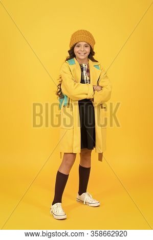 Schoolgirl Fancy Child. Aesthetics Of Clothes. Fall Outfit. Modern Teen Outfit Concept. Outfit For D
