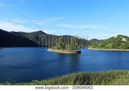 Bacina Lakes, Croatia, Southern Europe. Ocusa, Crnisevo, Podgora, Sladinac, Vrvnik And Plitko Lakes.