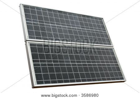 Solar Panel Isolated Over White
