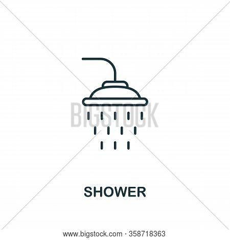 Shower Icon. Line Style Element From Hygiene Collection. Thin Shower Icon For Web Design And Infogra
