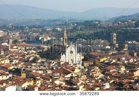 Florence met de Basilica Di Santa Croce